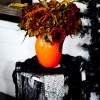 A Goulish Arrangement in a vintage orange pitcher.