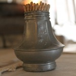 Vintage Aluminum Salt Shaker used to hold tooth picks.