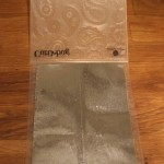Step 7: Place seamed tape into embossing folder.