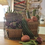 Vintage Collapsible Market Basket.