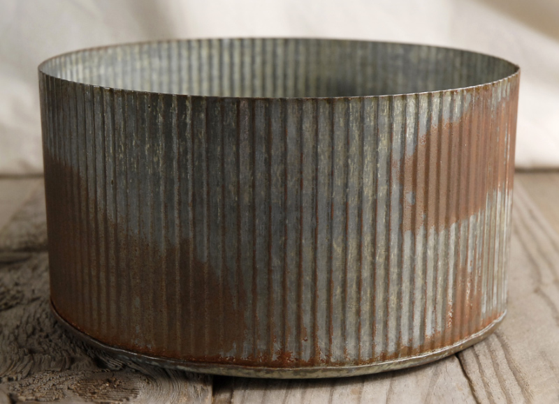 Rustic zinc tin, great for lining with parchment and filling with edible goodies.