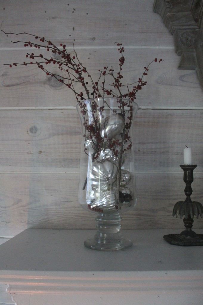Pepperberries and Mercury glass...the bridge between Winter and Spring