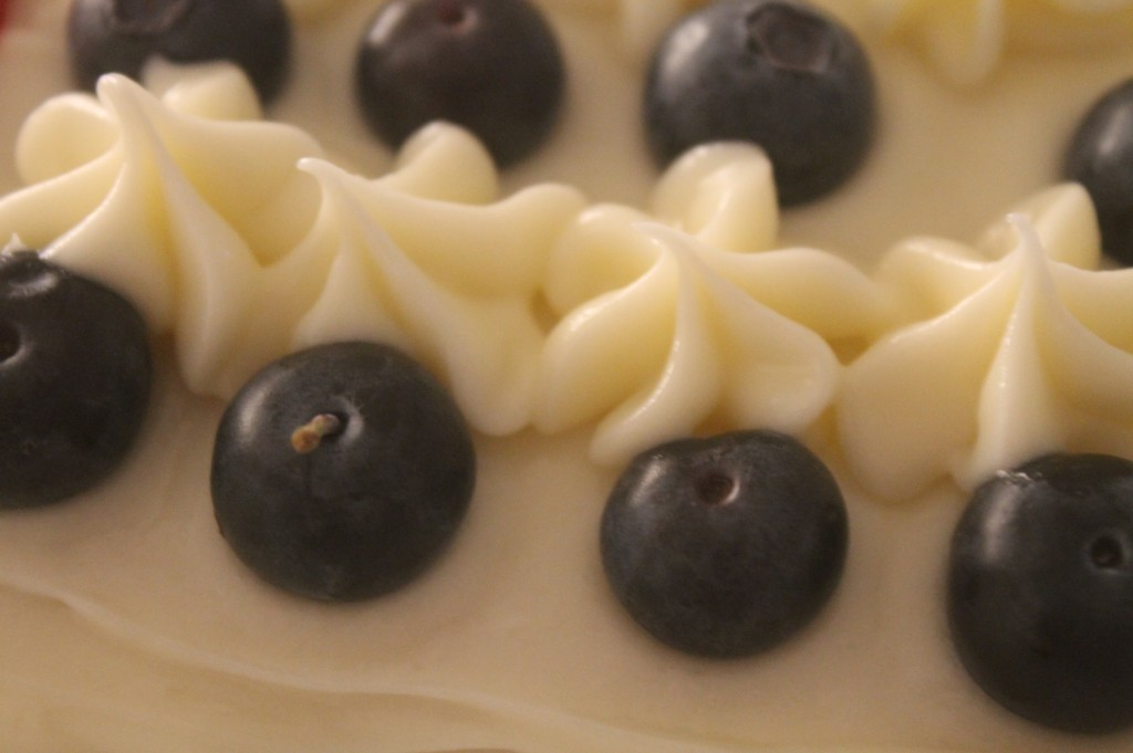 Blue Berries Cream Cheese Frosting