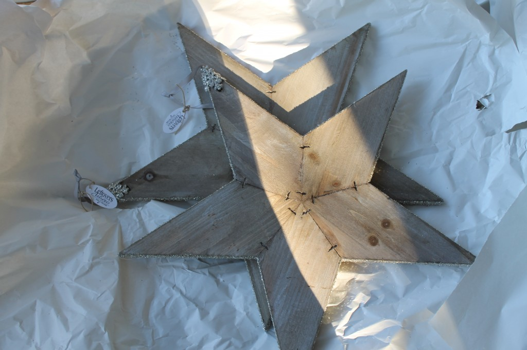 Wooden Christmas Stars from Leftovers in Brenham.