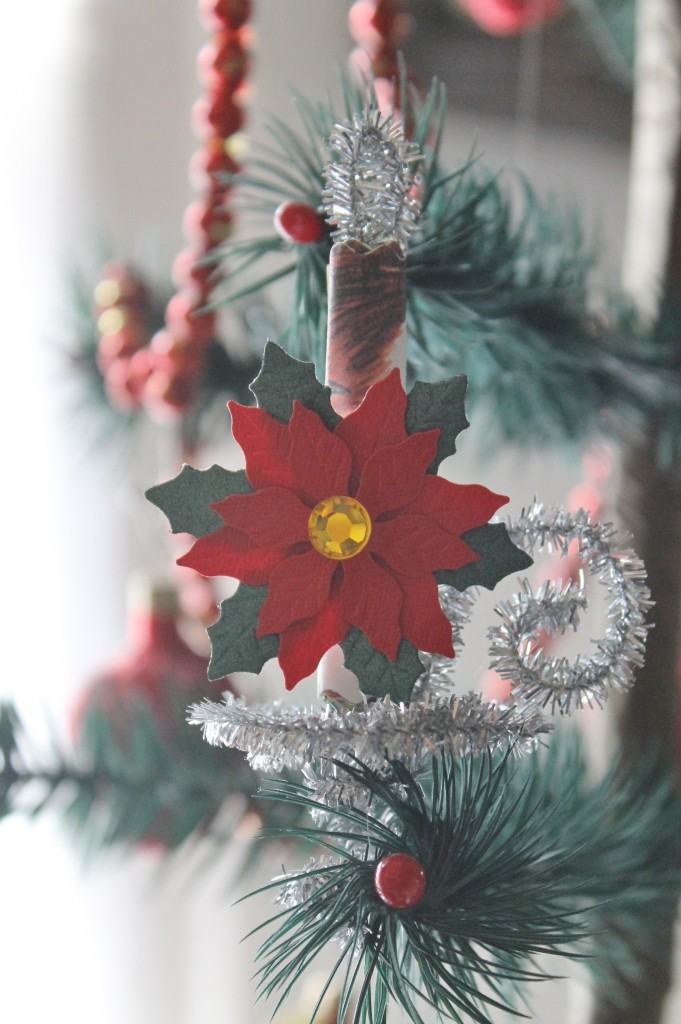 A pretty little Christmas poinsettia as a holiday flourish.