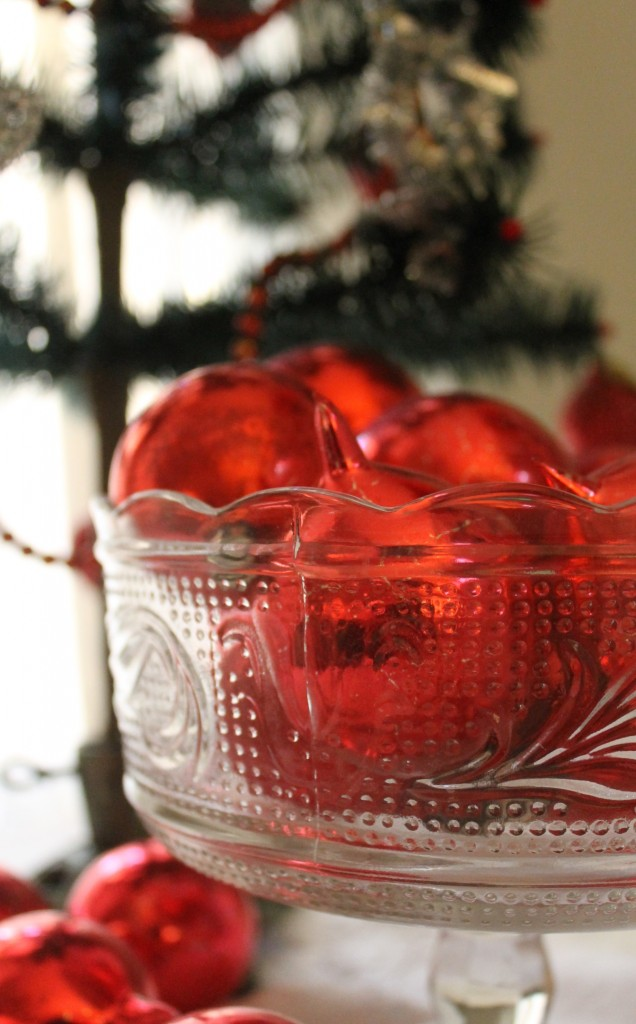Hand blown vintage Christmas ornaments.