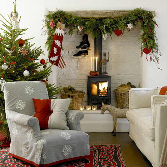 Christmas Fireplace in Nordic style