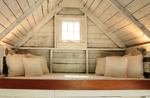 A sleeping nook tucked away