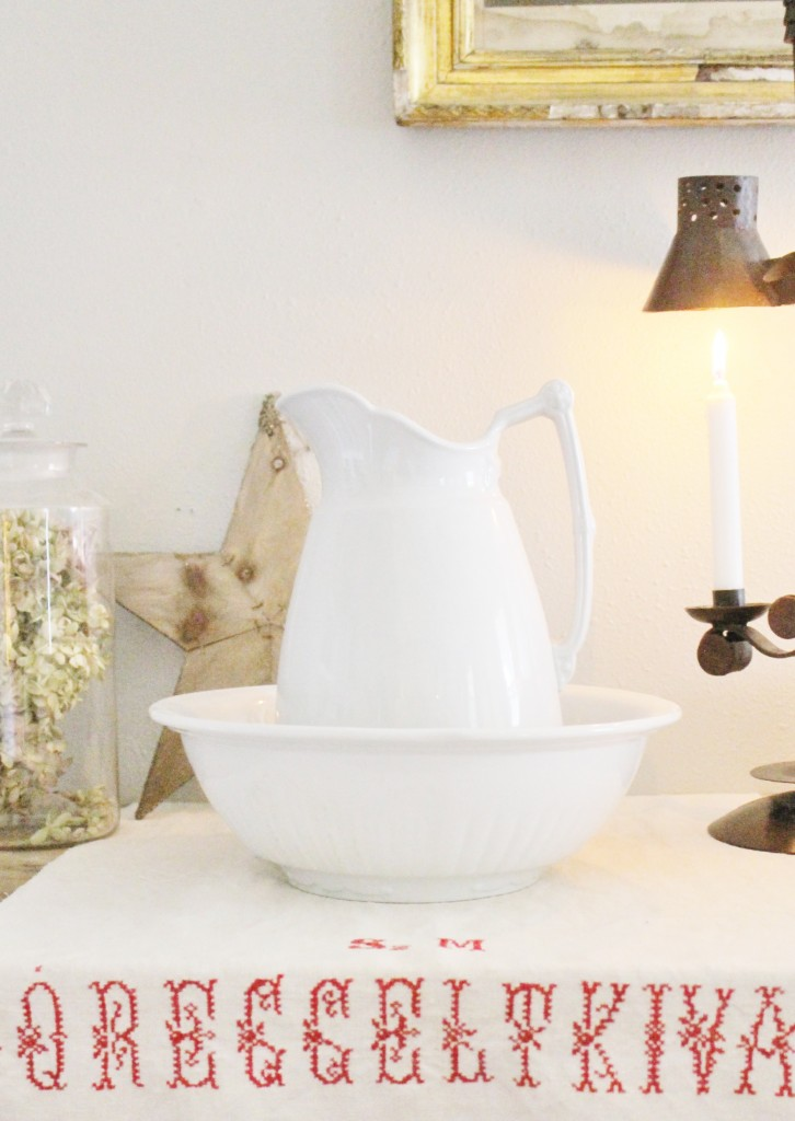 Vintage Linens and Ironstone