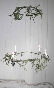 Traditional candle chandelier.