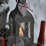 Tin Lanterns with the twinkly of real candle light.