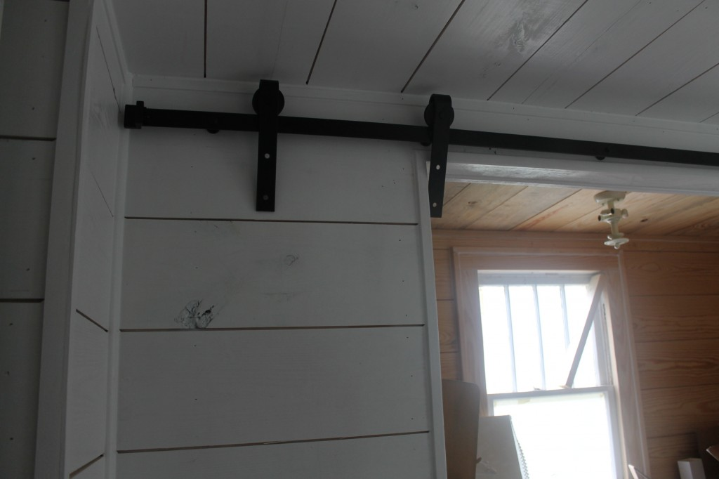 Barn door hardware to close off my very small office/work space